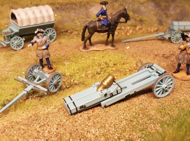Carolean mortar w cart in Smooth Fine Detail Plastic: 1:56