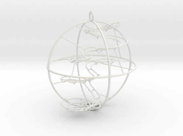 Christmas Ornament RBS rev b Luke 2 in White Natural Versatile Plastic