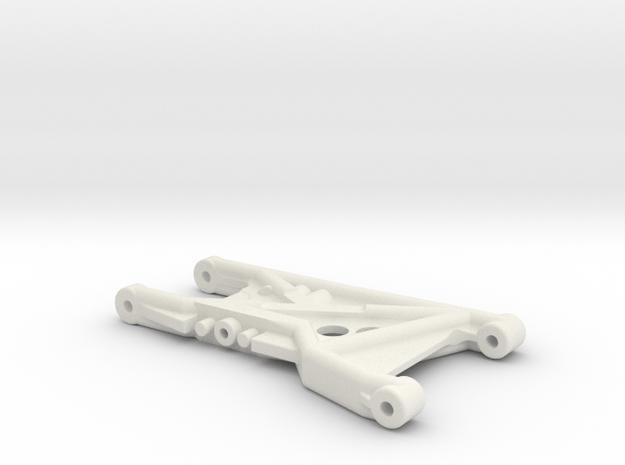 B4 Dyna Blaster / TR-15T rear suspension arm in White Natural Versatile Plastic