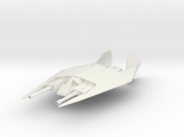 Narn Fighter in White Natural Versatile Plastic
