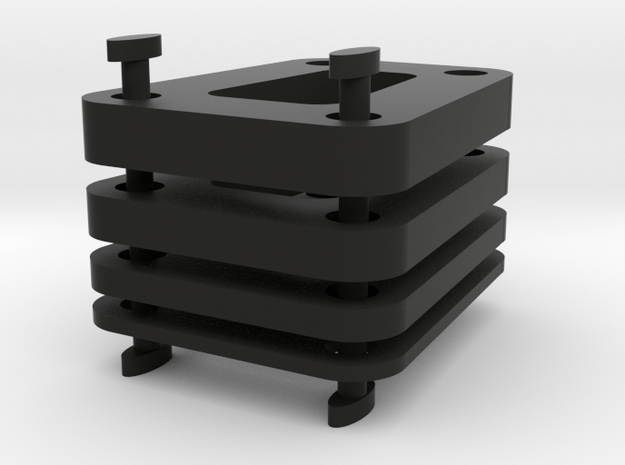 Axial 3 Gear Transmission Spacers in Black Natural Versatile Plastic