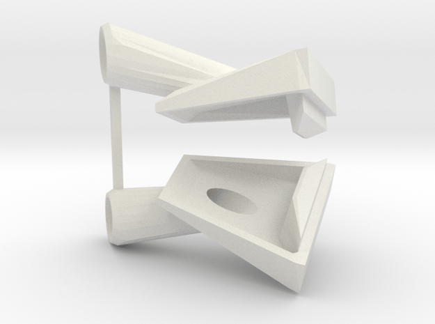 Type 14 frigate anchorbeds 1:48 in White Natural Versatile Plastic