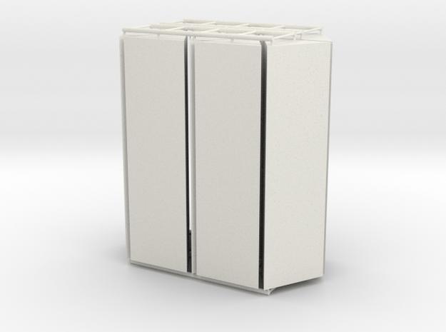 Triangles v1 in White Natural Versatile Plastic
