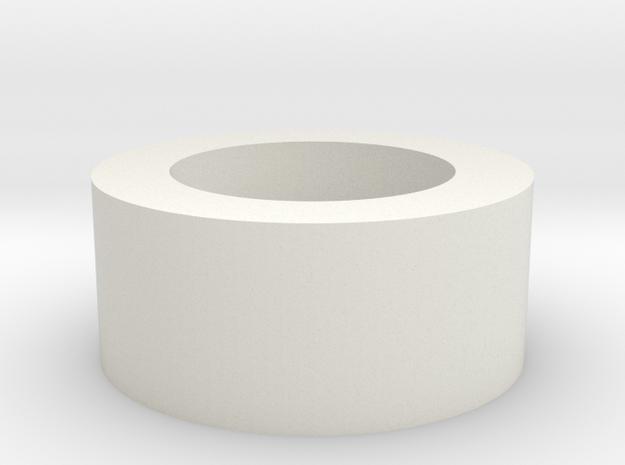Washer 23mm v1 in White Natural Versatile Plastic