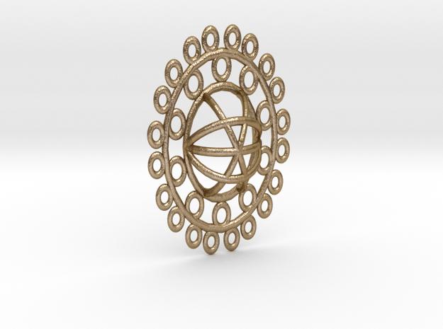 Ellipse Pendant in Polished Gold Steel