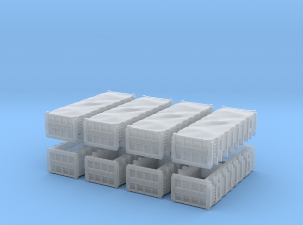 N90 - Marti Gravel Containers (8x) in Smooth Fine Detail Plastic