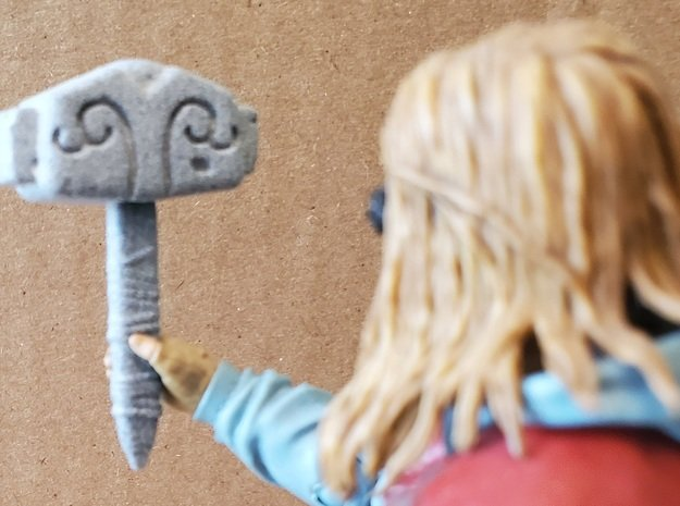 Mjolnir Hammer of Thor in Gray PA12