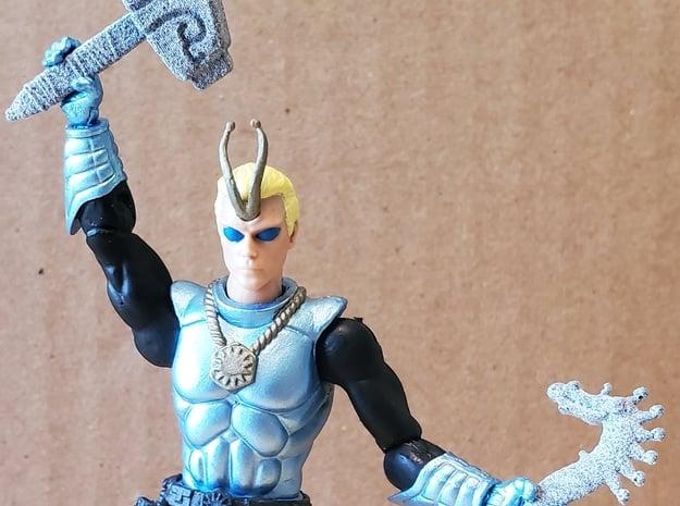 Mjolnir Hammer of Thor 3.75 inch! in Gray PA12