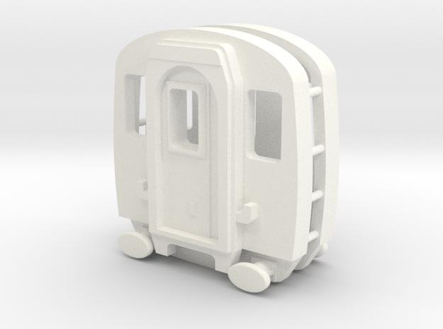 3mm Scale Mk1 EMU Cab in White Processed Versatile Plastic