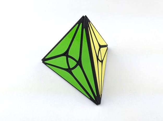 Collider Tetrahedron Puzzle in White Natural Versatile Plastic