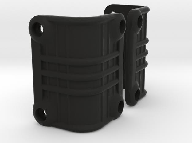 Ascender K5 Blazer Rear Light Bucket Covers (STL) in Black Natural Versatile Plastic