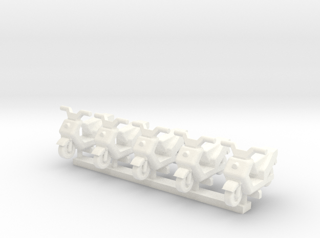 3mm Scale Generic Moped in White Processed Versatile Plastic