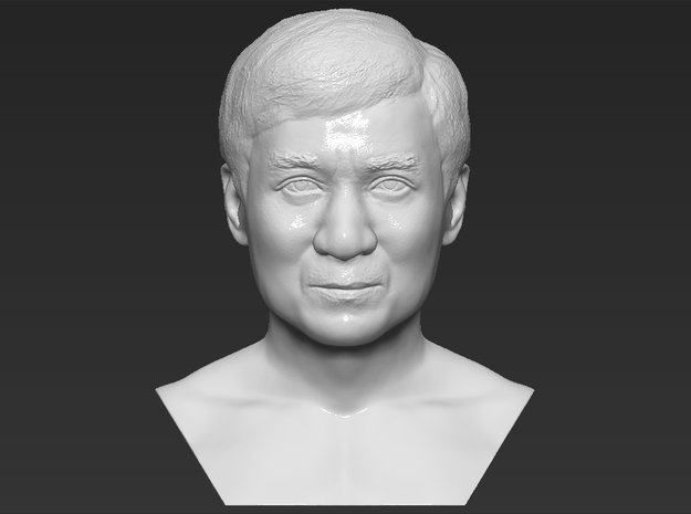 Jackie Chan bust in White Natural Versatile Plastic