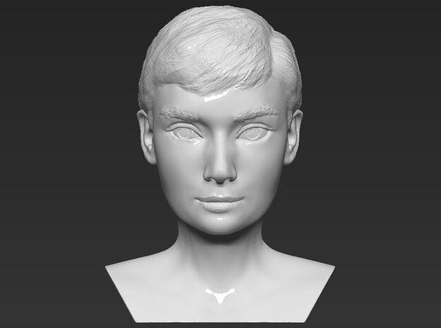 Audrey Hepburn bust in White Natural Versatile Plastic