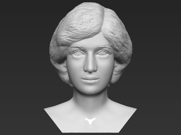 Princess Diana bust in White Natural Versatile Plastic
