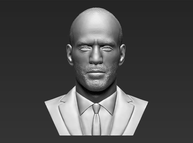 Jason Statham bust in White Natural Versatile Plastic