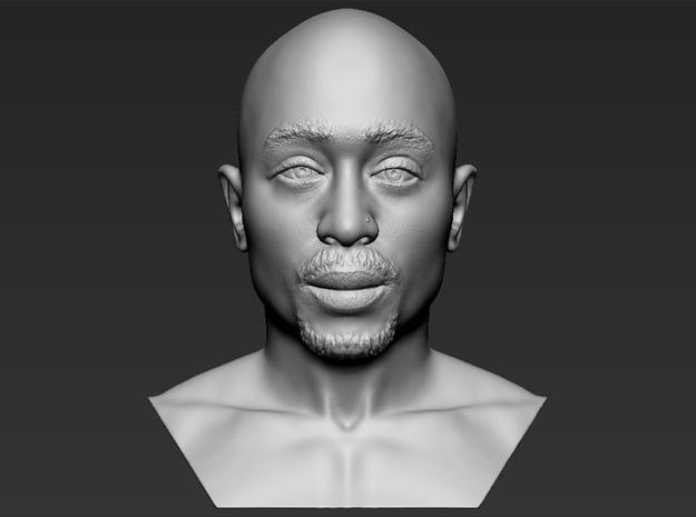 Tupac Shakur bust in White Natural Versatile Plastic