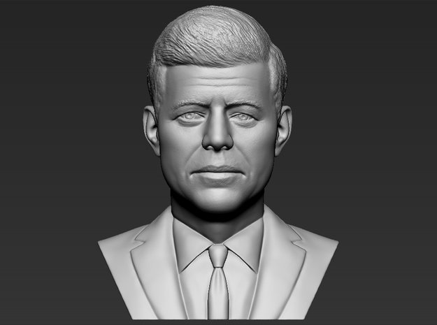 John F Kennedy bust in White Natural Versatile Plastic