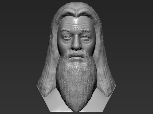 Albus Dumbledore from Harry Potter bust in White Natural Versatile Plastic