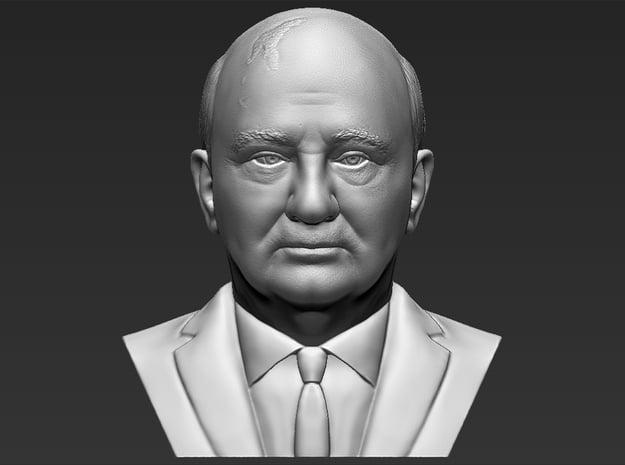Mikhail Gorbachev bust in White Natural Versatile Plastic