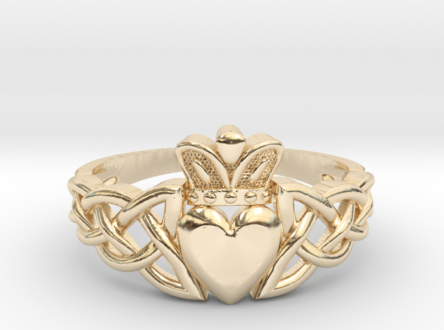 Claddagh ring in 14K Yellow Gold: 6 / 51.5