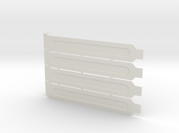Computer Expansion Slot Cover Plates in White Natural Versatile Plastic