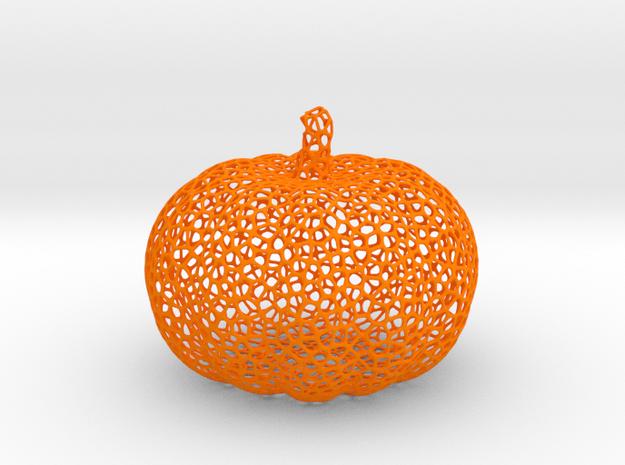 Voronoi Pumpkin #2 in Orange Processed Versatile Plastic