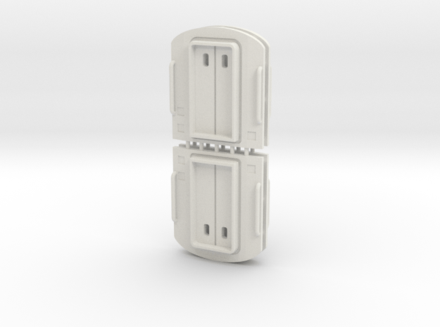 3mm Scale Mk3 Coach End in White Natural Versatile Plastic