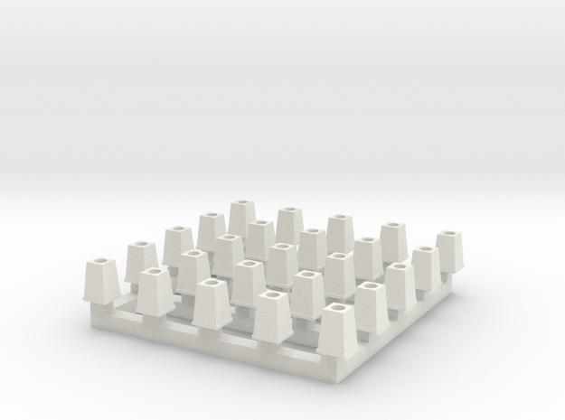 Streetlight Base HO scale x25 in White Natural Versatile Plastic: 1:87 - HO