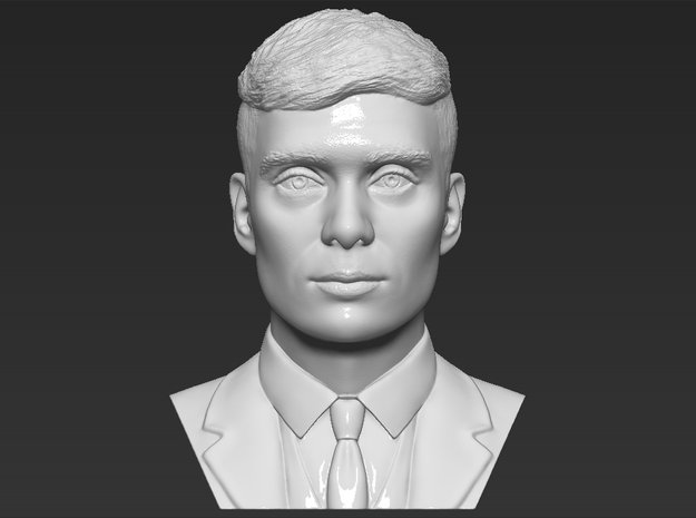 Tommy Shelby bust in White Natural Versatile Plastic