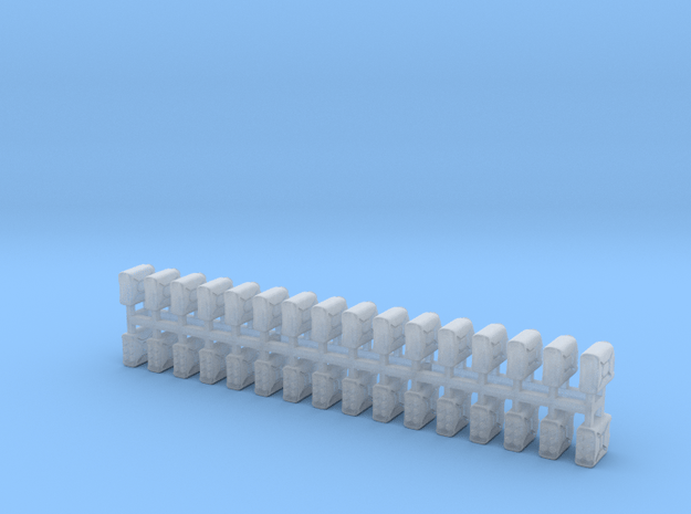 Modern Jerrycans 1/72 scale 30 pcs in Smooth Fine Detail Plastic