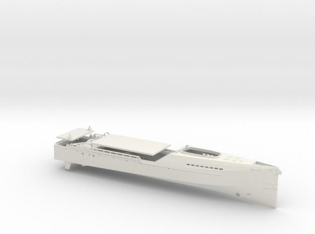 Crew Supplier, Hull & Decks (RC, 1:200) in White Natural Versatile Plastic