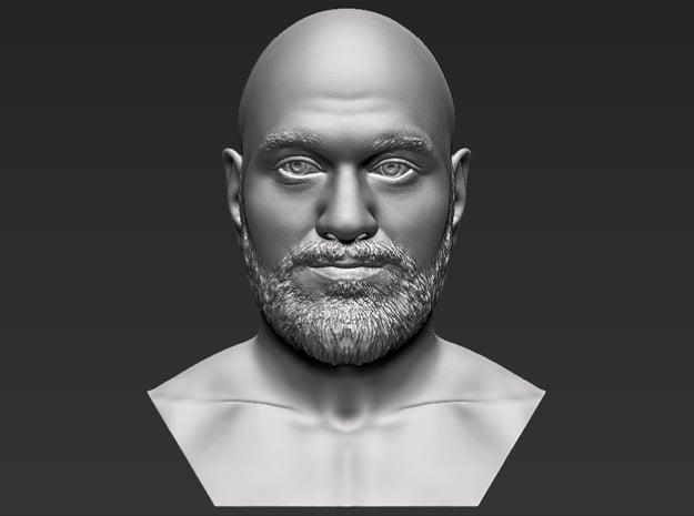 Tyson Fury bust in White Natural Versatile Plastic