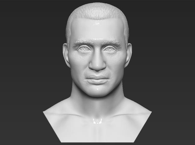 Wladimir Klitschko bust in White Natural Versatile Plastic