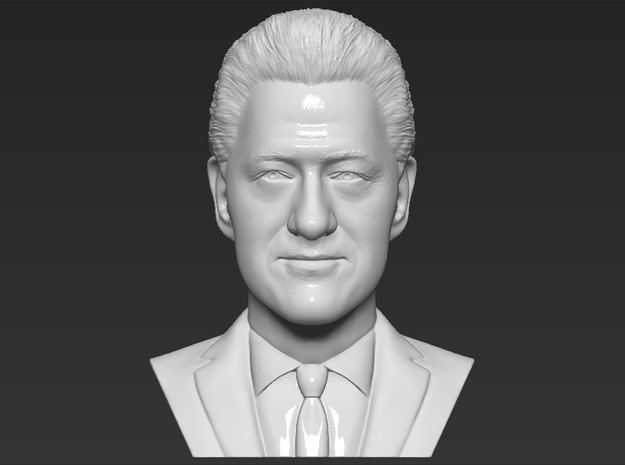 Bill Clinton bust in White Natural Versatile Plastic