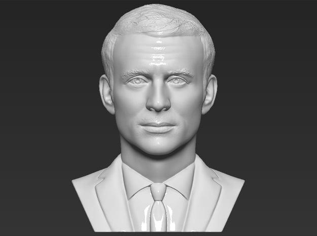 Emmanuel Macron bust in White Natural Versatile Plastic