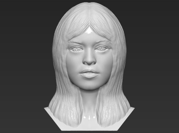 Brigitte Bardot bust in White Natural Versatile Plastic
