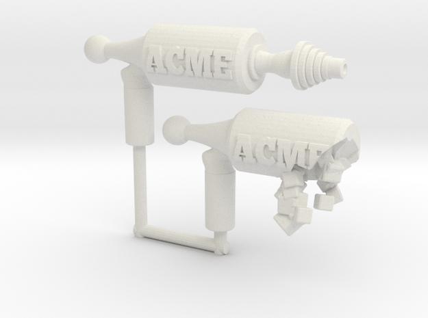 Disintegrating Pistol (3mm, 4mm, 5mm) in White Natural Versatile Plastic: Large
