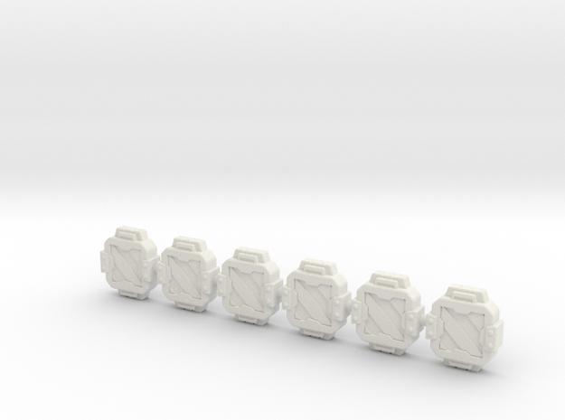 TCG - Repair Patch - Siege Compatible in White Natural Versatile Plastic: Medium