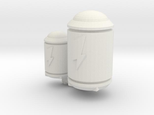 TCG - Power Cells - Siege Compatible in White Natural Versatile Plastic: Medium