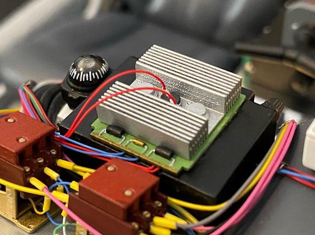 1:8 BTTF DeLorean Radio Heatsink in Smoothest Fine Detail Plastic
