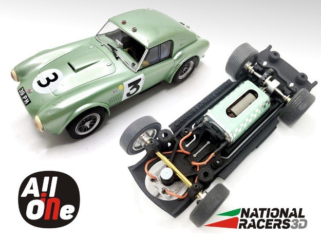 Chassis - Carrera Shelby Cobra 289 (In-AiO) in Black PA12