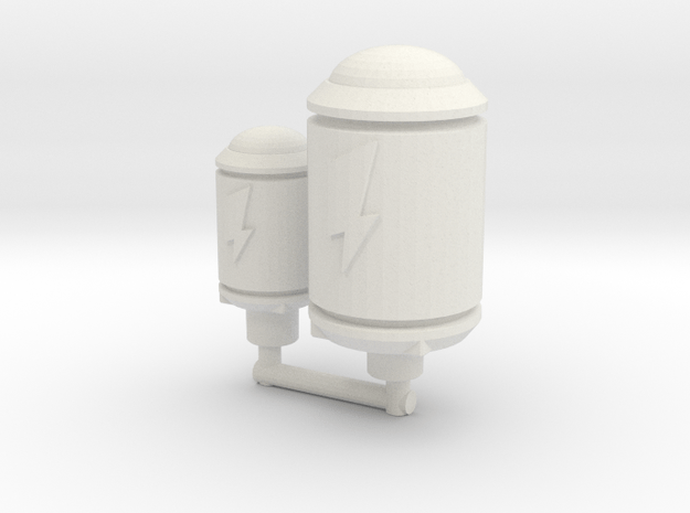 TCG - Power Cells - 5mm in White Natural Versatile Plastic: Medium
