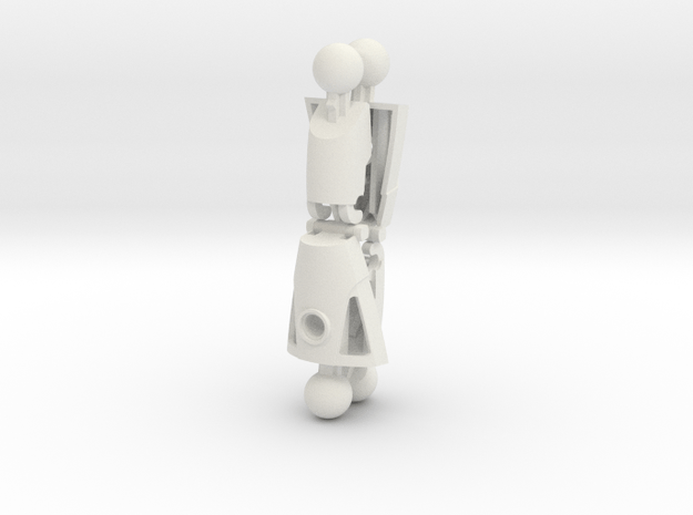 Articulated Nuva Legs (Two Pack) in White Natural Versatile Plastic