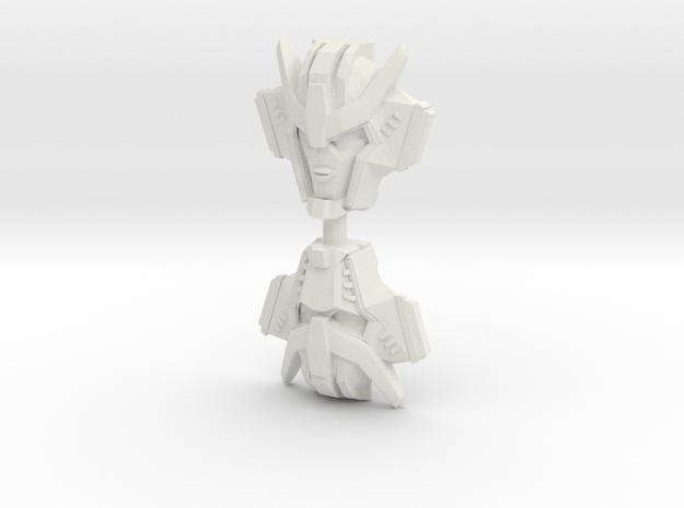 Strongarm Faceplate, RID (Titans Return) in White Natural Versatile Plastic: Large