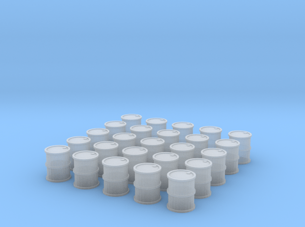25 Barrels for 10mm (6mm) in Smooth Fine Detail Plastic