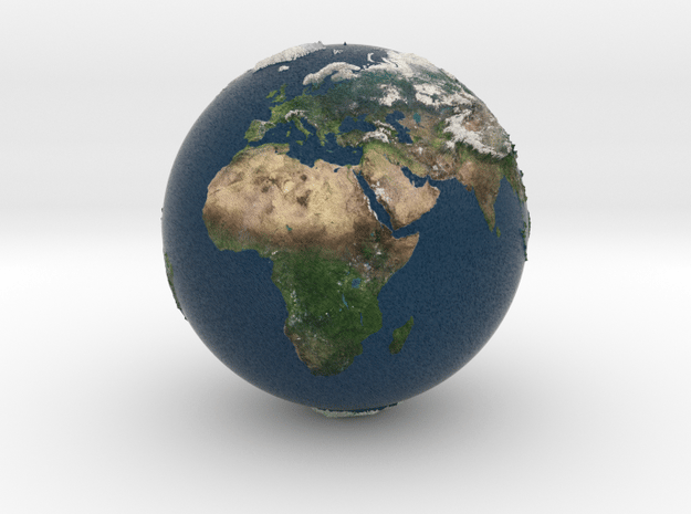 earth relieve in Natural Full Color Sandstone