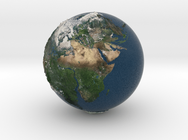 earth pangea in Natural Full Color Sandstone