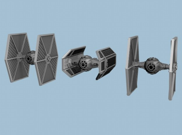 1/350 Tie Fighter Trench Run Three Pack in Smoothest Fine Detail Plastic