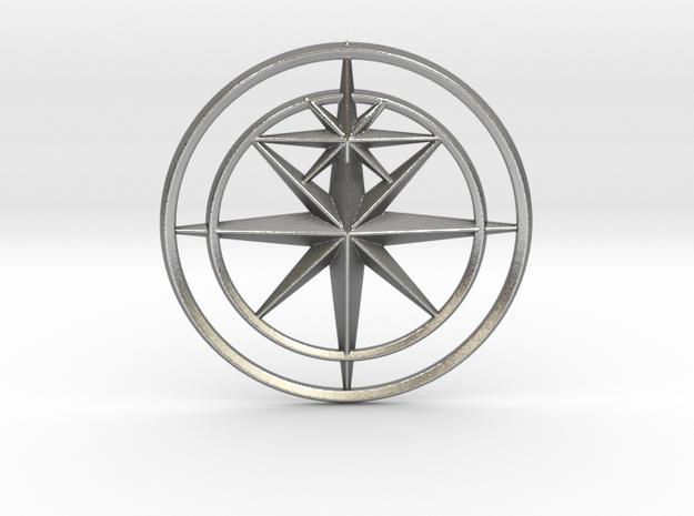 Sirius Pendant in Natural Silver